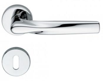 Maniglia per porte serie H 359 SOM New York DUEMILASETTE con rosetta bocchetta tonda foro normale cromo lucido