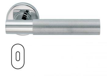 Maniglia per porta Fusital serie K2 H5015 rosetta bocchetta foro ovale normale inox lucido