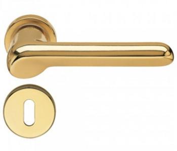 Fusital maniglia per porta H 37 rosetta bocchetta foro normale oro satinato