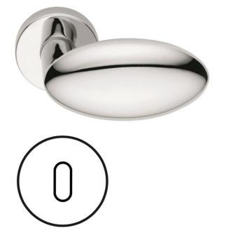 Fusital serie  CA Duemilanove H368r8 Maniglia per porta interna rosetta bocchetta normale Cromo Lucido