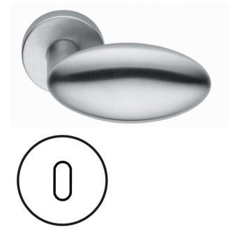 Fusital serie  CA Duemilanove H368ry Maniglia per porta interna rosetta bocchetta per foro normale Cromo Satinato