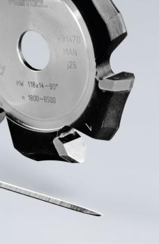 Festool Fresa per scanalature a V HW 118x14-90°/Alu