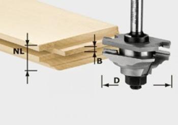 Festool Fresa per incastri e profili HW gambo 8 mm HW S8 D46 x D12-FD