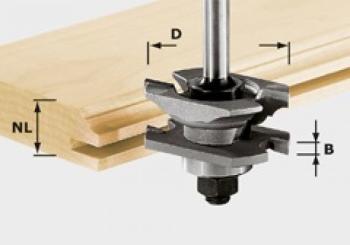Festool Fresa per scanalature e profili HW gambo 8 mm HW S8 D46 x D12-NT
