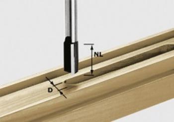 Festool Fresa per scanalare gambo 8 mm HW S8 D10/25