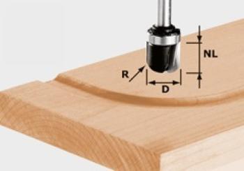 Festool Fresa per scanalature a raggio HW gambo 8 mm HW S8 R6,4 KL