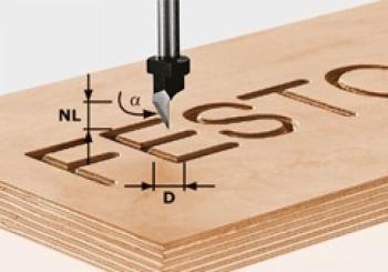 Festool Fresa per incisioni HW gambo 8 mm HW S8 D11/60°