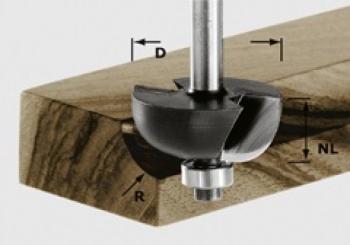 Fresa a raggio convesso HW gambo 8 mm HW S8 D31,7/R9,5 KL