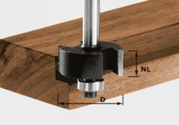 Festool Fresa per battute gambo 8 mm HW S8 D31,7/NL 12,7