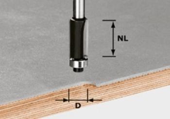 Festool Fresa per rifilare HW gambo 8 mm HW S8 D12,7/NL25