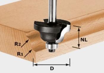 Festool Fresa a doppio ragggio HW gambo 8 mm HW S8 D38,1/R6,35/R6,35