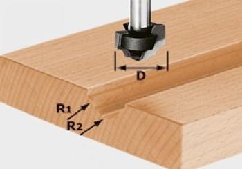 Festool Fresa a profilare HW gambo 8 mm HW S8 D19/R5/R4