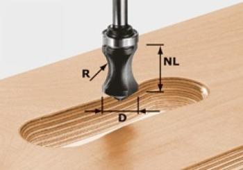 Festool Fresa per maniglie HW 8 mm gambo HW S8 R16/NL32
