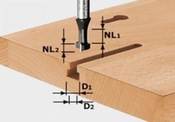 Festool Fresa per scanalature e T HW gambo 8 mm HW S8 D10,5/NL13