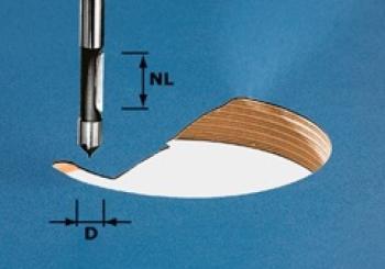 Festool Fresa per forare gambo 8 mm HW S8 D8/19