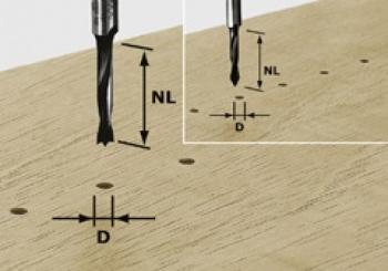Festool Fresa per spinare HW gambo 8 mm HW S8 D8/30 Z