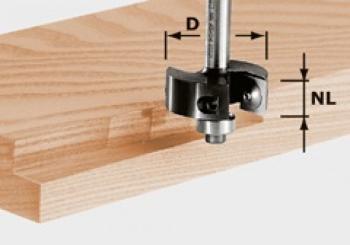 Festool Fresa per gradini con placchetta reversibile HW gambo 8 mm HW S8 D38/12