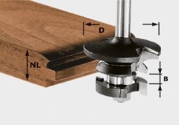 Festool Fresa per controprofili e scanalatura HW gambo 8mm HW S8 D43/21 A/KL