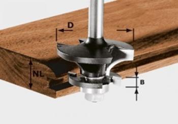 Festool Fresa per controprofili HW gambo 8 mm HW S8 D43/21 A/KL