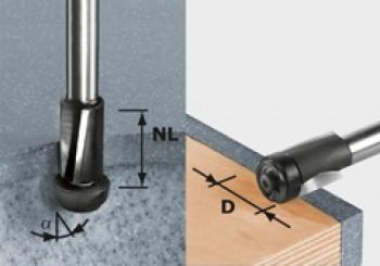 Festool Frese per rifilare HW gambo 12 mm HW D19/25 ss S12