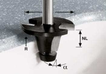 Festool Fresa a tazza HW gambo 12 mm HW R12.7/25/18° ss S12