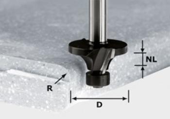 Festool Fresa a raggio gambo 12 mm HW R19/D54 ss S12