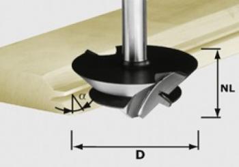 Festool Fresa per giunzioni inclinate HW gambo 12 mm HW D 64/27 S12