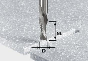 Festool Frese da sgrossatura e finitura HW gambo 12 mm HW Spi D12/42 LD ss S12