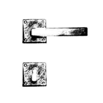 Maniglia per porta artigianale GIARA Collections mm serie Quadra foro Yale VERDE IMPERIALE