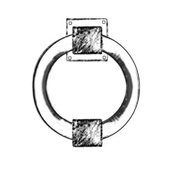 Battente per porte artigianale Giara Design serie Quadra Britannio