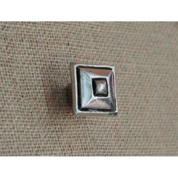 Pomello per mobili artigianale Quadrato Giara Art Design 35 mm Britannio