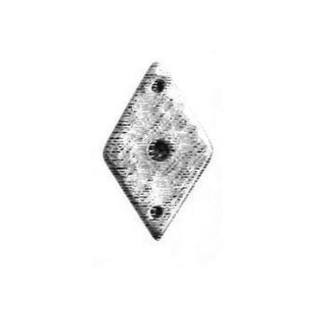 Rosetta per pomolino artigianale Giara Art Design diametro 26 x 43 mm Britannio