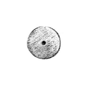 Rosetta per pomolino artigianale Giara Art Design diametro 40 mm Britannio