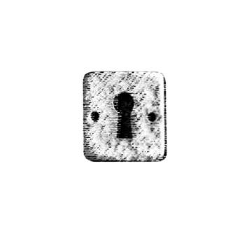 Bocchetta per mobili Quadrata per pomolino Giara Art Design 30 x 30 mm Britannio
