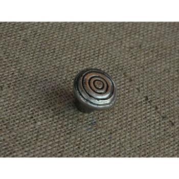 Pomello per mobili artigianale CHIOCCIOLA Giara Art Design diametro 32 mm Britannio