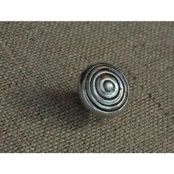 Pomello per mobili artigianale CHIOCCIOLA Giara Art Design diametro 39 mm Britannio