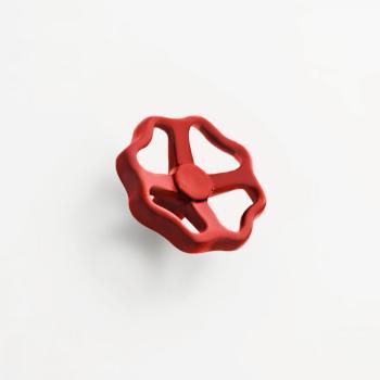 Manopola per mobile stile Industrial LeFabric diametro 65 mm Rosso Lucido