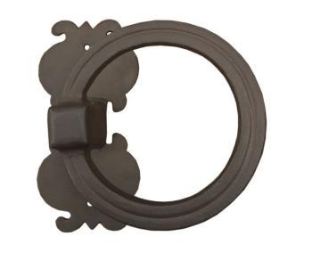 Maniglione in ferro Zancato Galbusera con placca finitura Nero Antico