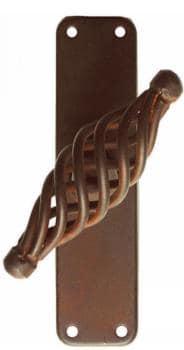 Maniglia in ferro per finestra Galbusera serie Budapest Martellina - Cremonese finitura speciale
