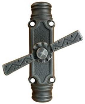 Cremonese per aste esterne in ferro Galbusera finitura Nero antico