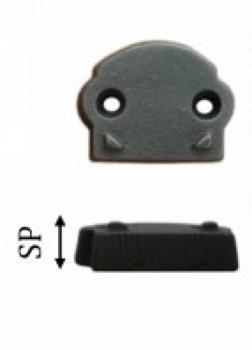 Spessore in ferro Galbusera mm 19 per Cremonese Finitura Nero Antico