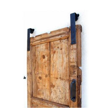 Kit Binario per Porta Scorrevole esterno muro Le Fabric lunghezza binario 2000 mm finitura NERO