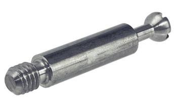 Perno di collegamento zincato 34 mm con filetto lungo 7,5 mm