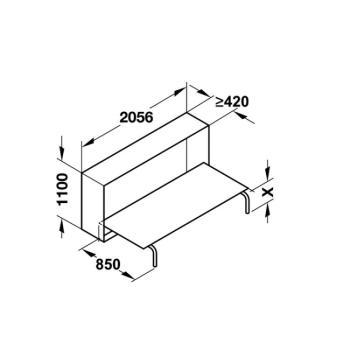 Meccanismo per letto singolo ribaltabile trasversale letto 900 x 2000 mm CON MATERASSO compreso