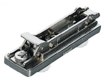 Base Salice in linea Duomatic da pressare con boccole premontate 10 mm Altezza 0 mm