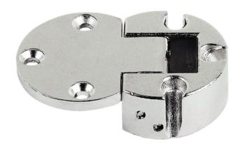 Cerniera per ante ribaltabili Plano-Medial apertura 90° in pressofusione di zinco Brunito