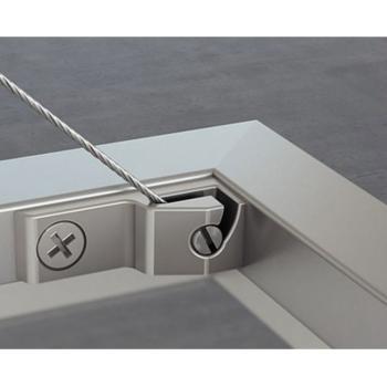 Accessorio Fissaggio frontale per telai sottili in alluminio Sinistro