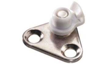 Accessorio Opzionale - Staffa angolare di fissaggio all'ANTA in Alluminio