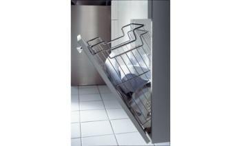 Cestello per biancheria Acciaio Cromato per modulo mobile 450 mm dimensione 385x260 mm