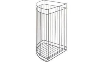 Cestello angolare da mobile porta biancheria Bianco 330 x 330 x 500 mm
